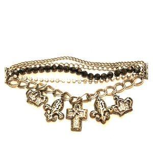 Jewelry - Silver Cross Charm Bracelet
